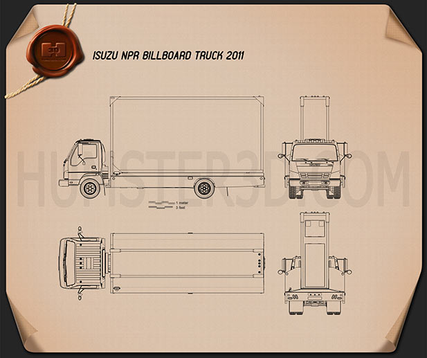 Isuzu NPR Billboard 2011 Blueprint