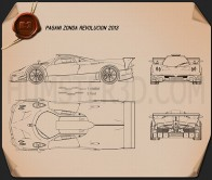 Pagani Zonda Revolucion 2014 Blueprint