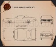 Plymouth Barracuda hardtop 1974 Blueprint