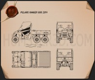 Polaris Ranger 6×6 2014 Blueprint