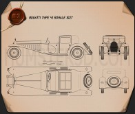 Bugatti Royale (Type 41) 1927 Blueprint