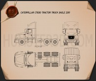 Caterpillar CT630 Tractor Truck 2011 Blueprint