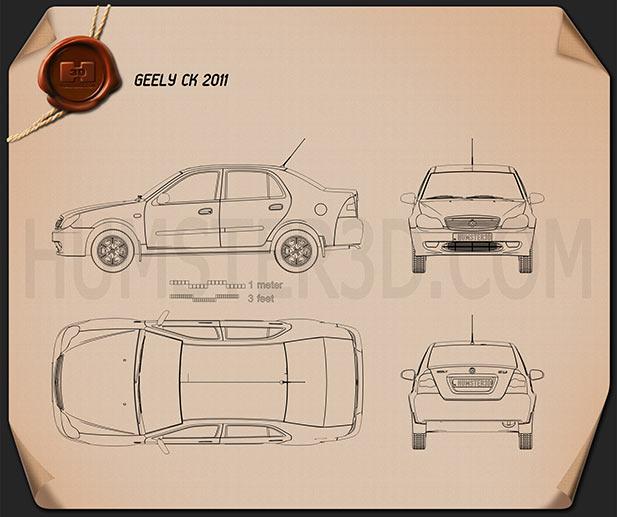 Geely CK (Otaka) 2011 Blueprint