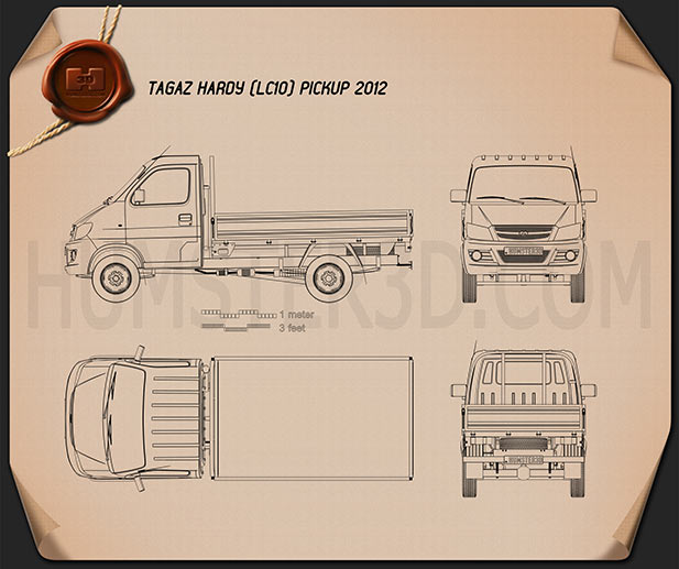 TagAZ Hardy pickup 2012 Blueprint