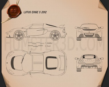 Lotus Exige S 2012 Blueprint
