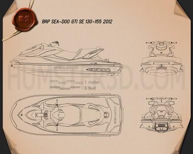 BRP Sea-Doo GTI SE 130/155 2012 Blueprint