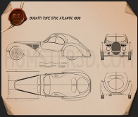 Bugatti Type 57SC Atlantic 1936 Blueprint