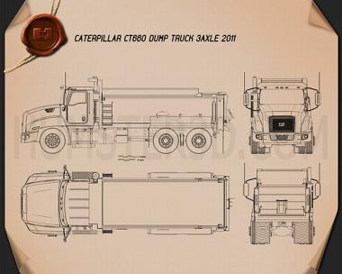 Caterpillar CT660 Dump Truck 2011 Blueprint