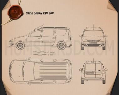 Dacia Logan Van 2011 Blueprint