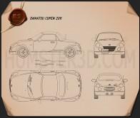 Daihatsu Copen 2011 Blueprint