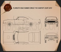 Plymouth Road Runner 440 hardtop 1970 Blueprint