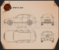 Infiniti QX50 (EX) 2009 Blueprint