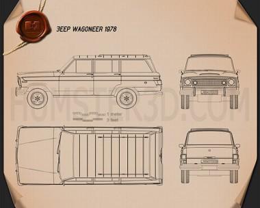 Jeep Wagoneer 1978 Blueprint