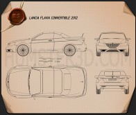 Lancia Flavia convertible 2012 Blueprint