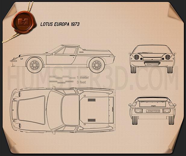 Lotus Europa 1973 Blueprint