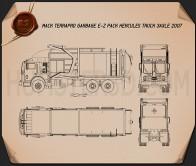 Mack TerraPro Garbage Truck 2007 Blueprint