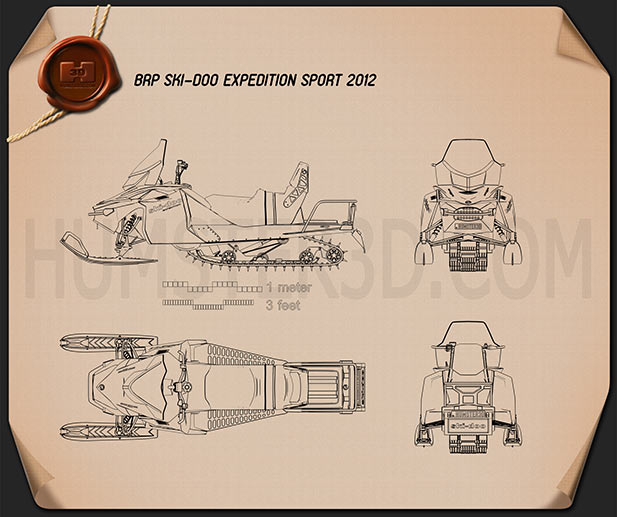 BRP Ski-Doo Expedition Sport 2012 Blueprint