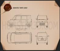Daihatsu Tanto 2003 Blueprint