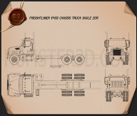 Freightliner 114SD Chassis Truck 2011 Blueprint