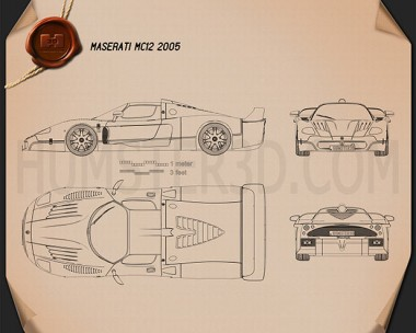 Maserati MC12 Blueprint