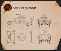 Hummer M242 Bushmaster 2011 Blueprint