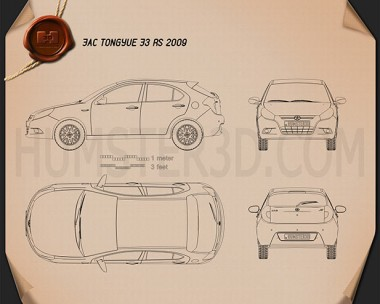 JAC Tongyue J3 RS 2009 Blueprint