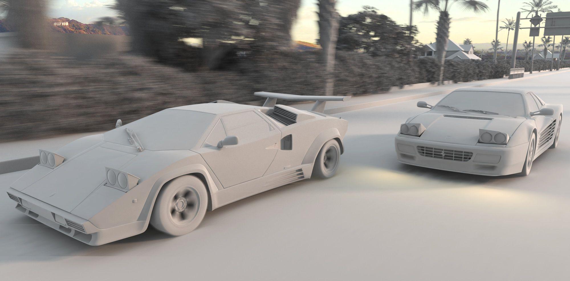Grey render