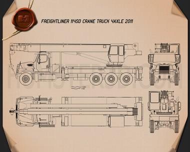 Freightliner 114SD Crane Truck 2011 Blueprint
