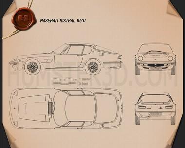 Maserati Mistral 1970 Blueprint