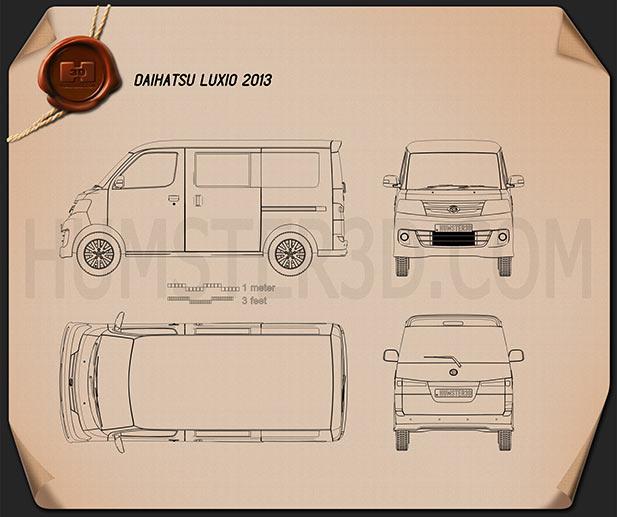 Daihatsu Luxio 2013 Blueprint
