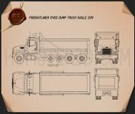 Freightliner 114SD Dump Truck 2011 Blueprint