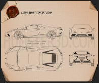 Lotus Esprit 2010 Blueprint