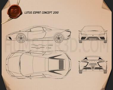 Lotus Esprit 2010 Blueprint