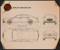 Bentley Flying Spur 2014 Blueprint