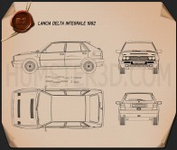 Lancia Delta Integrale 1992 Blueprint