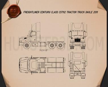 Freightliner Century Class Tractor Truck 2011 Blueprint