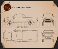 Isuzu D-Max Single Cab 2012 Blueprint