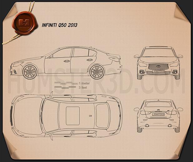 Infiniti Q50 2013 Blueprint