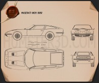 Maserati Indy 1969 Blueprint