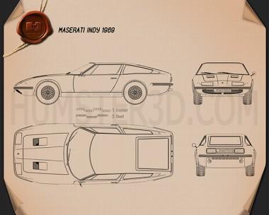 Maserati Indy 1969 Blueprint