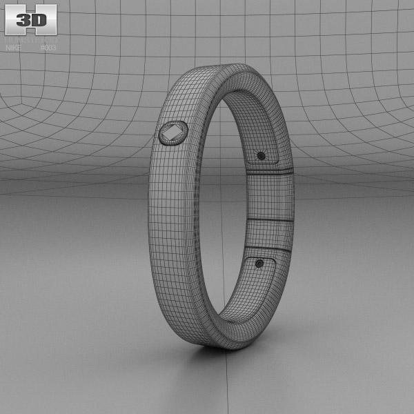 nike fuelband se pink foil 3d model hum3d