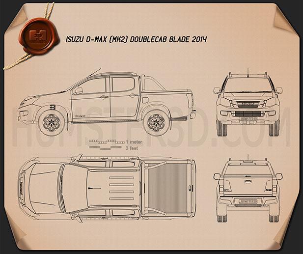 Isuzu D-Max Double Cab Blade 2014 Blueprint