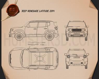 Jeep Renegade Latitude 2015 Blueprint
