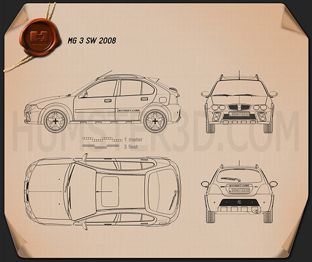 MG 3 SW 2008 Blueprint
