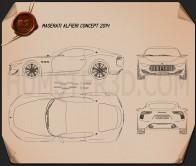 Maserati Alfieri 2014 Blueprint