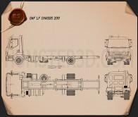 DAF LF Chassis Truck 2011 Blueprint