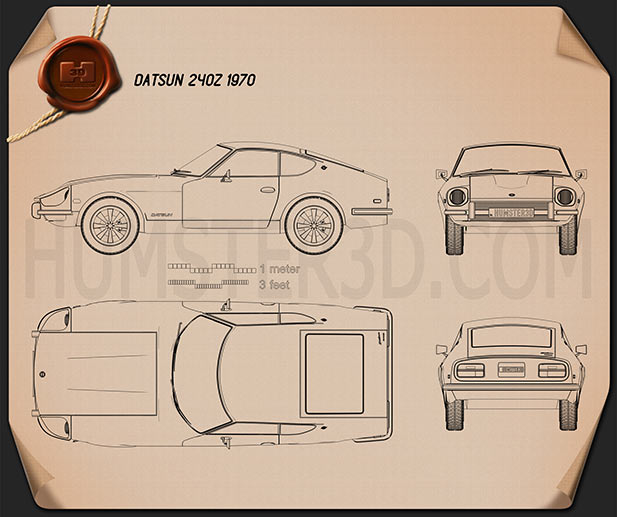 Datsun 240Z 1970 Blueprint