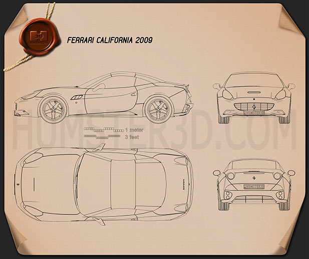 Ferrari California Blueprint