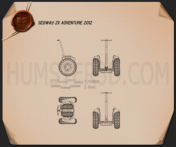 Segway 2X Adventure 2012 Blueprint