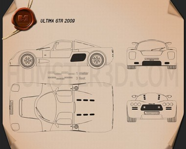 Ultima GTR 2009 Blueprint